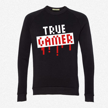 True Gamer Stamp fleece crewneck sweatshirt
