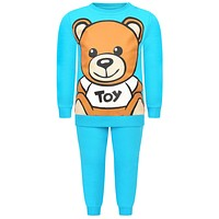 Moschino Baby Turquoise Teddy Tracksuit