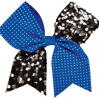 Rhinestones and Sequins Cheer Performance Hair Bow