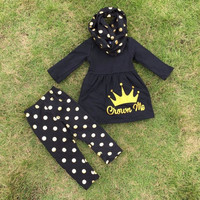 In Stock-Crown me leggings and Scarf set(size 6/7 only )