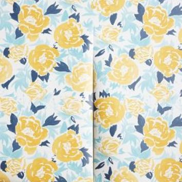 Drifting Blooms Wallpaper by Anthropologie Yellow One Size House & Home