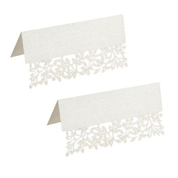 50pcs White Laser Cut Table Cards Decorations Wedding Decor