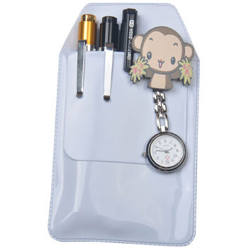 Scrub Transparent Doctors Nurses Dedicated Pen Bag Practical Pen Inserted Leak-Proof PVC Material Hospital Supplies