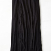 AEO Women's Side Slit Maxi Skirt (Black)