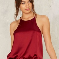 Sheen Look Cami Bodysuit - Red