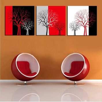 Romantic Trees Romantic Canvas Art - 3 pieces