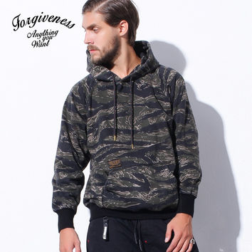 Winter  Camouflage Pullover Long Sleeve Cotton Men Hoodies [8822219907]