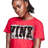 Bling Shrunken Tee - PINK - Victoria's Secret