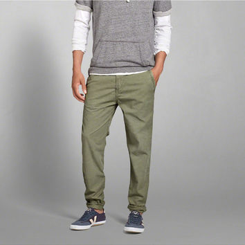 Mens A&F Lightweight Taper Chinos | Mens Clearance | Abercrombie.com