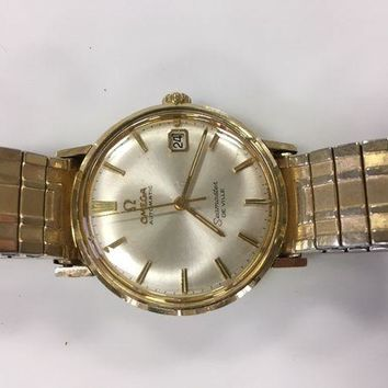 ONETOW Vintage Gold Omega Seamaster Deville Watch Running Old Original