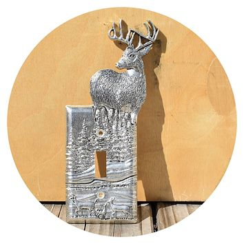 2005 Comstock Pewter Light Switch Cover Deer
