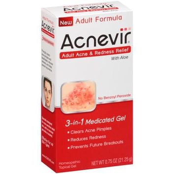 Acnevir Adult Acne & Redness Relief, 3-in-1 Medicated Gel, .75 oz - Walmart.com