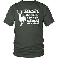 Best Buckin' Papa Ever - Hunting T-Shirt, Hoodie, Tank Top