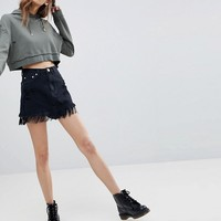 Signature 8 Festival Denim Skirt With Fringe Hem at asos.com