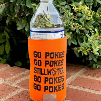 Oklahoma State - Go Pokes Slim Can Cooler