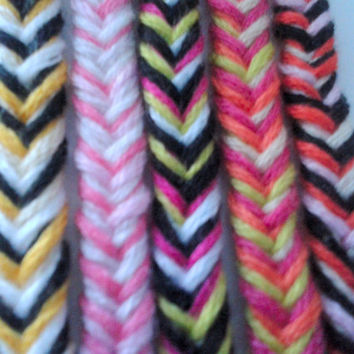 Fishtail Braid Friendship Bracelet - Hand-woven Embroidery Floss Bracelet