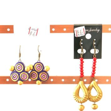 Terracotta Casual drop Earring