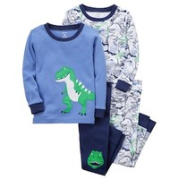 Toddler Boy Carter's 4-pc. Dinosaur Pajamas Set | null