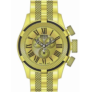 Invicta 17163 Men's Bolt Sport Gen III Gold Dial Gold Tone Steel Chronograph Watch