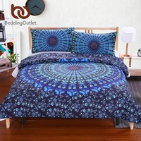 Love Stretches Bedding Bohemian Style Retro Duvet Cover and Pillowcase Twill Twin Full Queen King Cal-King Sale