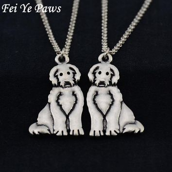 Silver Stainless Steel Labradoodle Pendant Necklace