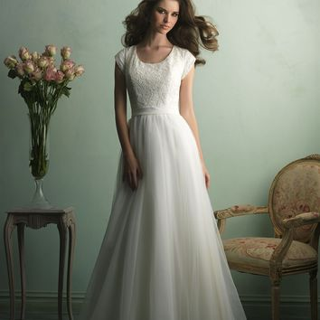Allure Bridals M521 Modest A-Line Wedding Dress
