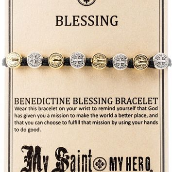 My Saint, My Hero- Benedictine Blessing Bracelet