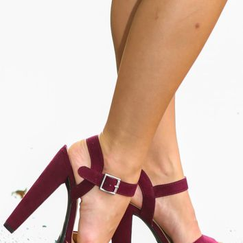 A-list Platform Heels-Maroon from The Red Dress Boutique