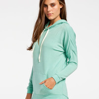 Full Tilt Essential Womens Cozy Hoodie Green  In Sizes