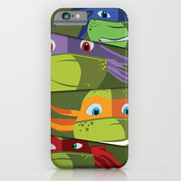 Teenage Mutant Ninja Turtles Vector Art iPhone & iPod Case by BuySkullCat
