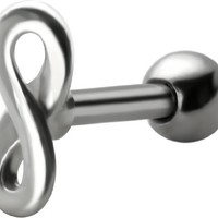 18 gauge Infinity Cartilage Earring-18g-Infinity Symbol-Short 1/4 inch Stainless Steel Helix Earring