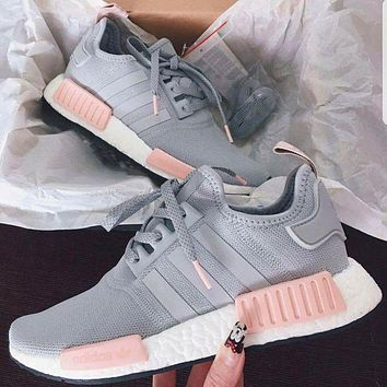 shosouvenir :ADIDAS Women Running Sport Casual Shoes NMD Sneakers GREY