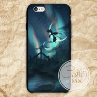 Night Skyrim,moon phase, iPhone 4/4S, 5/5S, 5C Series, Samsung Galaxy S3, Samsung Galaxy S4, Samsung Galaxy S5 - Hard Plastic, Rubber Case