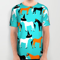 Halloween Unicorns All Over Print Shirt by That's So Unicorny