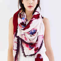 Watercolor Floral Square Scarf - Urban Outfitters