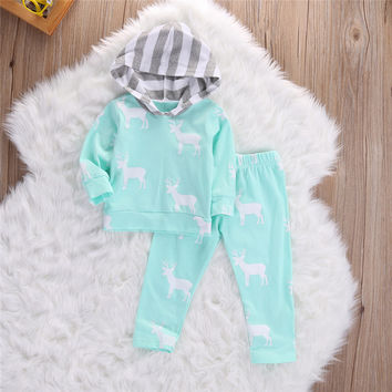 Girls Clothes Christmas Pajamas 2016 Winter Kids Tracksuits Boys Clothing Children Clothing Sets