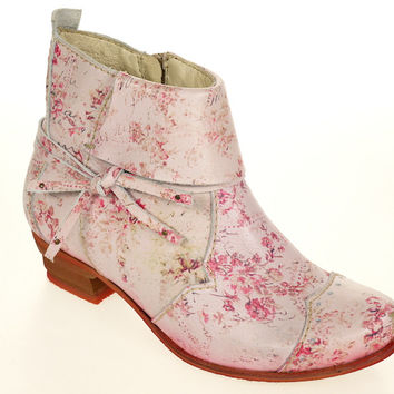 Rover 'Printing Roses' Ankle Bootie