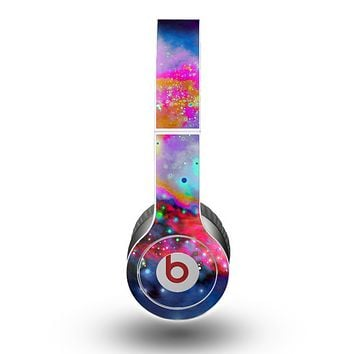 The Neon Splatter Universe Skin for the Beats by Dre Original Solo-Solo HD Headphones