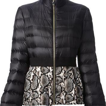 Moncler Gamme Rouge Snakeskin Print Padded Jacket