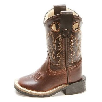 Old West Toddler-Boys' Western Cowboy Boot Square Toe