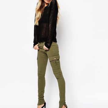 Noisy May Petite Skinny Cargo Pants