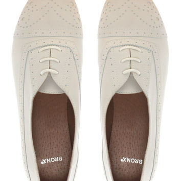 Bronx Leather Lace-Up Flat Shoe at asos.com