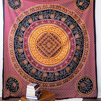 Ankit Elephant Medallion Tapestry Multi One Size For Women 26973308801