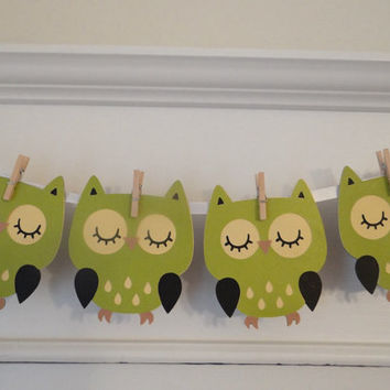 Owl Baby Shower Banner | Green | Banner | Baby Boy | Baby Girl | Baby Shower | Gender Reveal