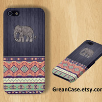 Elephant Case , Tribal Elephant Case , Wooden Case , Aztec Case : iPhone 4/4s Case , iPhone 5 Case , Galaxy S3 Case , Galaxy S4 Case