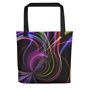 Neon Lines Tote bag