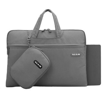 "Laptop Bag Case Sleeve Briefcase with Pocket + Mouse Pad for 13.3"""" Macbook, Gray"