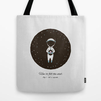 How to Fill the Void Tote Bag by MidnightCoffee