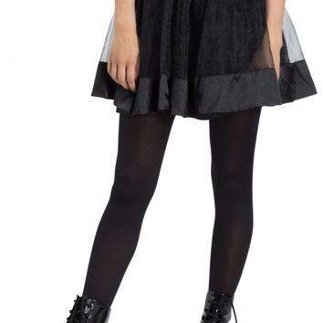 Black Net Full Mesh Circle Mini Skirt by Jawbreaker