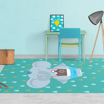 Elephant Rug - Kids rugs - Affordable Rugs - Nursery Area Rugs